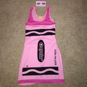 Pink crayon costume